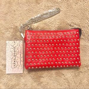 Zara Red Studded Wristlet.
